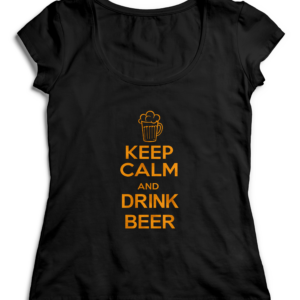 T-SHIRT KEEP CALM AND DRINK BEER