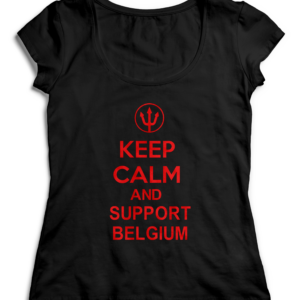 T-SHIRT KEEP CALM AND SUPPORT BELGIUM