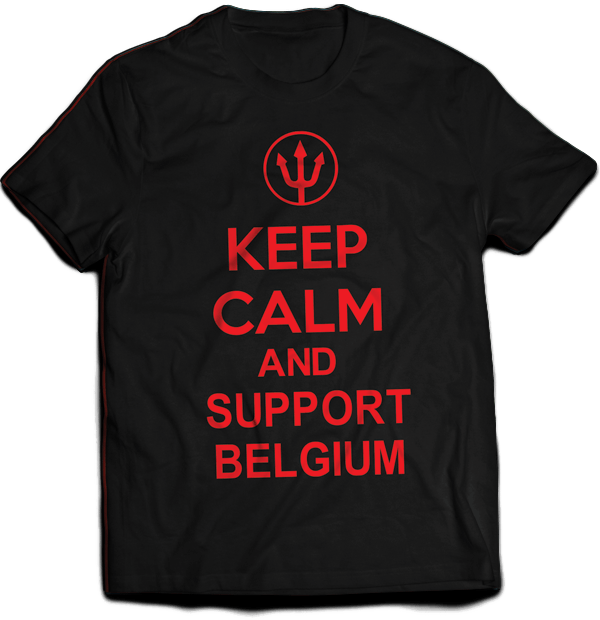 T-shirt Keep Calm and Support Belgium - J'imprime comme j'aime