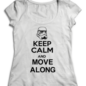 T-SHIRT KEEP CALM AND MOVE ALONG