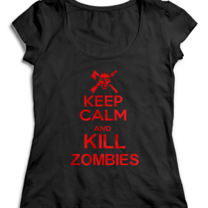 T-SHIRT KEEP CALM AND KILL ZOMBIES