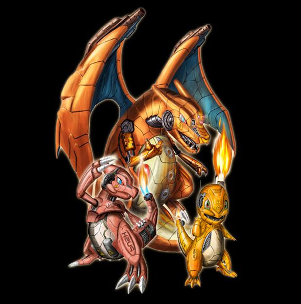 Tshirt salam che et ses volutions impression haute qualit 100 coton - Pokemon evolution salameche ...