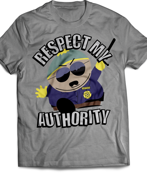 T-shirt South Park Respect My authority