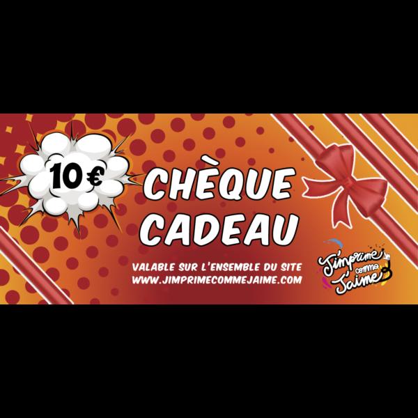 cheque cadeau 10 euros jimprime comme jaime belgique tshirt