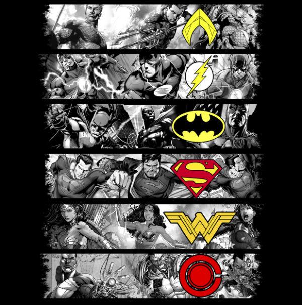 justice league batman superman aquaman wonderwoman cyborg flash