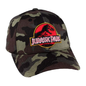 casquette-jurassic-park-camouflage-logo