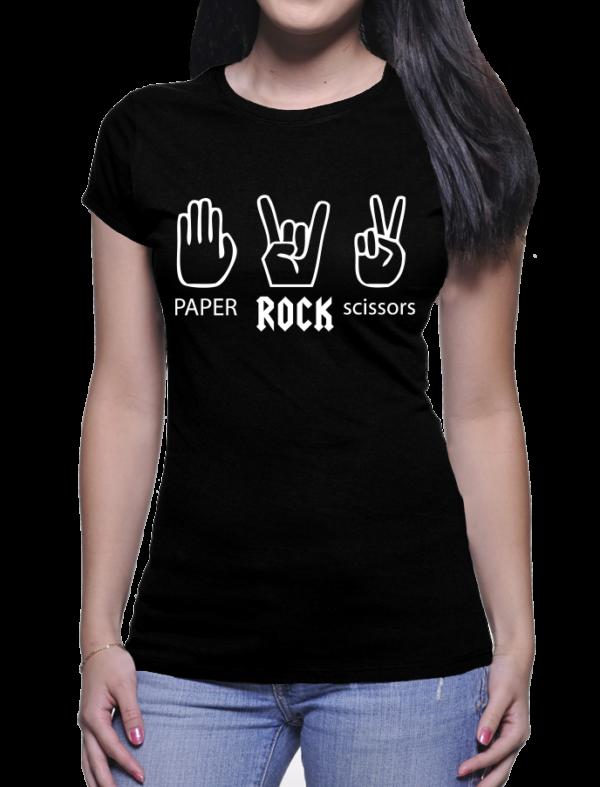 paper rock cisor couleur noir