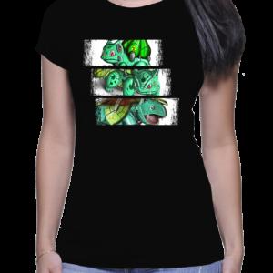 t-shirt femme trio bulbizarre
