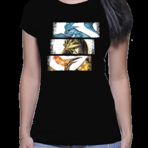 t-shirt femme trio oiseau legendaire