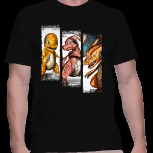 t-shirt homme trio salameche